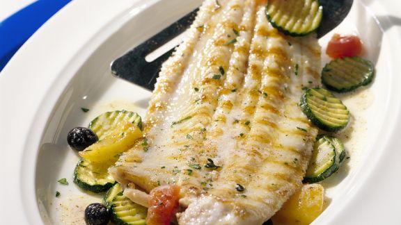 Rezept: Seezunge mit Zucchinigemüse