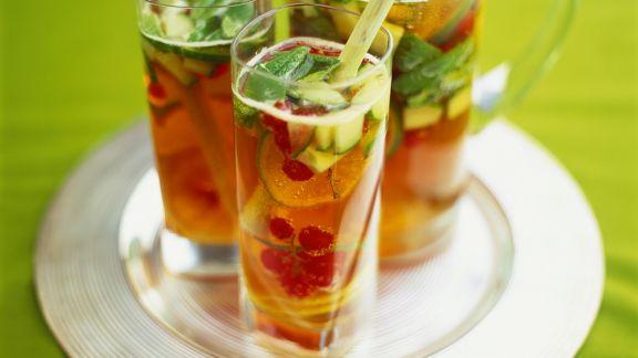 Rezept: Sektbowle mit Früchten