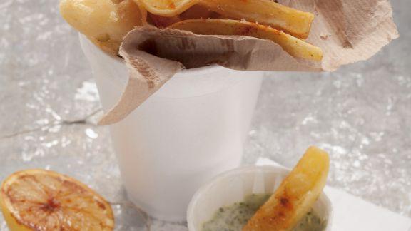 Rezept: Sellerie und Pommes frites mit Kräutermayonnaise