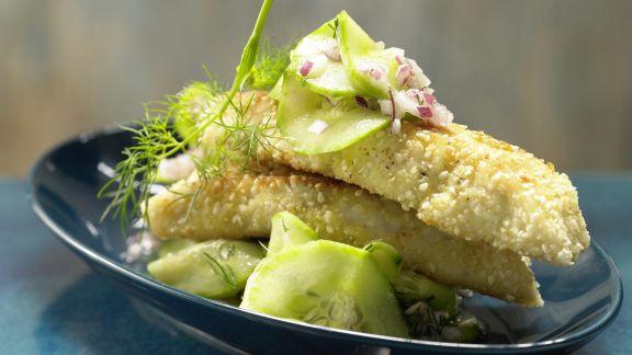 Rezept: Sesam-Fischstäbchen – smarter