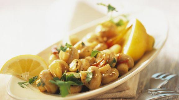 Rezept: Sherry-Champignons mit Petersilie