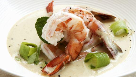 Rezept: Shrimps-Curry mit Porree