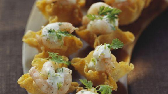 Rezept: Shrimps im Wan-Tan-Schälchen