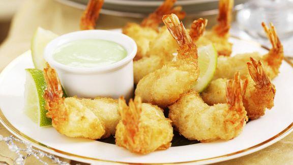 Rezept: Shrimps in Pankopanande mit Wasabi-Creme