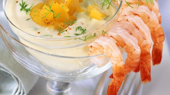 Rezept: Shrimps mit Joghurtdip