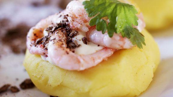 Rezept: Shrimps mit Kartoffelbrei