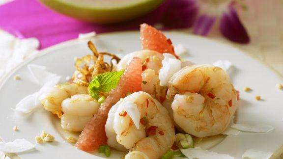 Rezept: Shrimpsalat mit Pomelo und Grapefruit