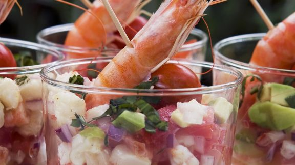 Rezept: Shrimpscocktail mit Avocado und Tomate