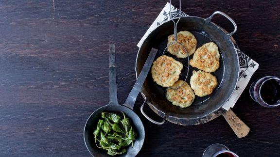 Rezept: Shrimpsküchlein mit Kichererbsenmehl