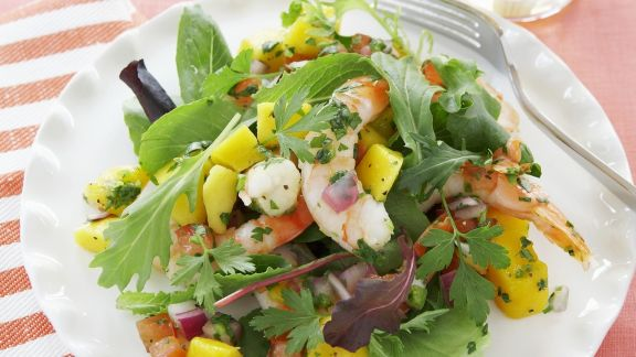 Rezept: Shrimpssalat mit Mango und Tomaten