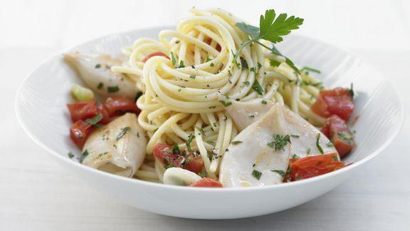 Rezept: Spaghetti mit Calamaretti