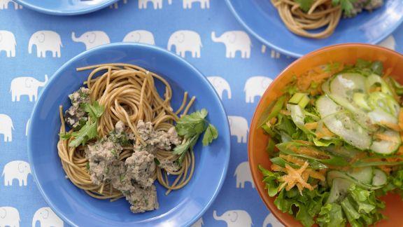 Rezept: Spaghetti mit cremiger Thunfischsauce