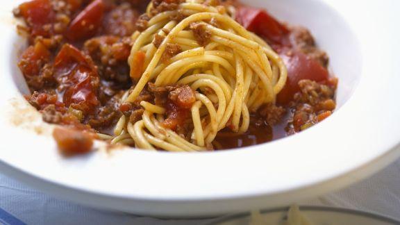 Rezept: Spaghetti mit Gemüse-Bolognese