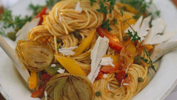 Rezept: Spaghetti mit Gemüsesoße