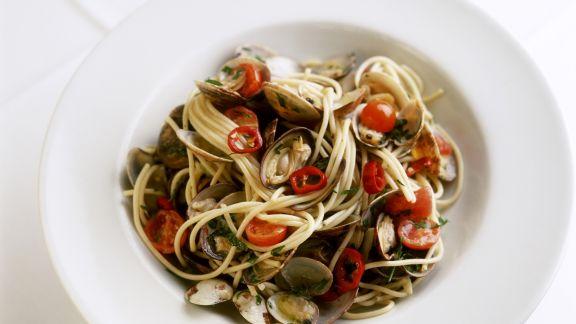 Rezept: Spaghetti mit Muscheln
