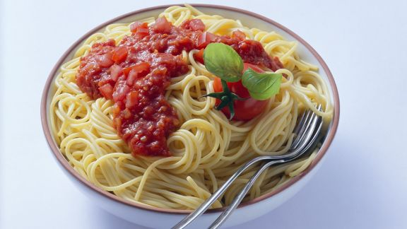 Rezept: Spaghetti mit Tomatensauce