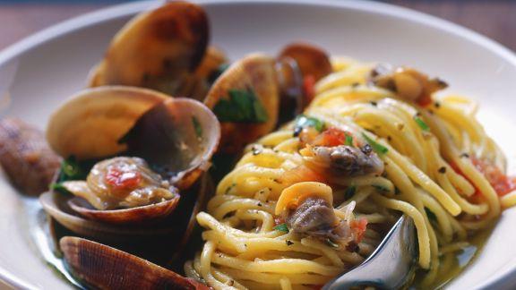 Rezept: Spaghetti mit Vongole