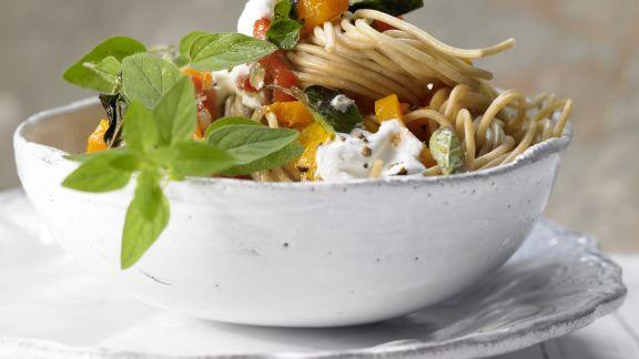 Rezept: Spaghetti mit Paprika
