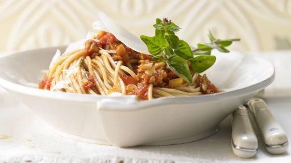 Rezept: Spaghetti mit Pilz-Bolognese