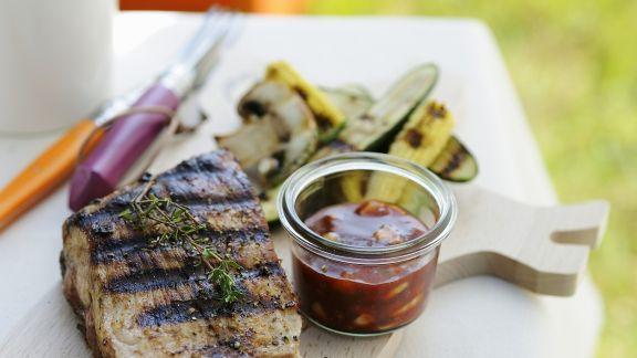 Rezept: Spareribs vom Grill mit Barbecue-Soße