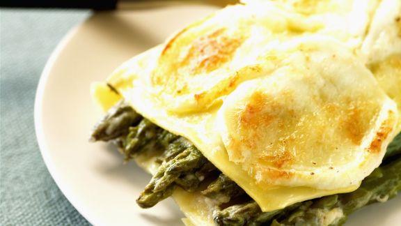 Rezept: Spargel-Lasagne