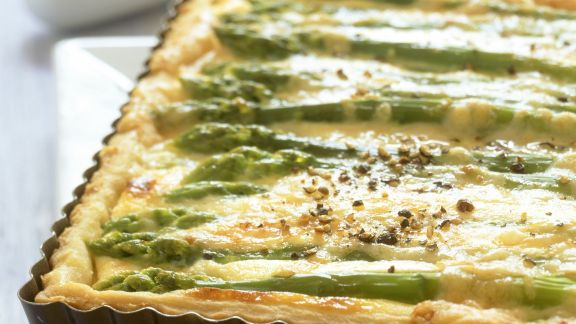 Rezept: Spargelquiche mit Ricotta
