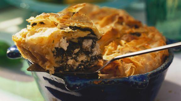 Rezept: Spinat-Feta-Pastete auf griechische Art