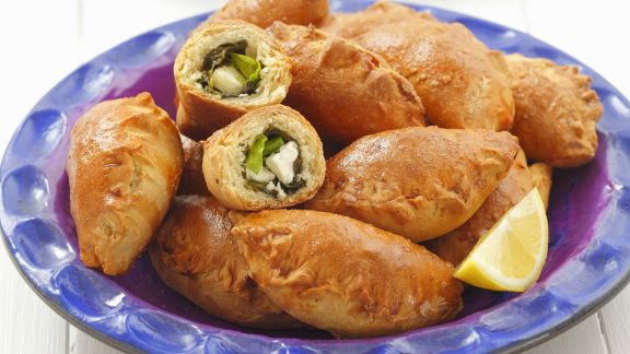 Rezept: Spinat-Feta-Taschen