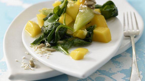 Rezept: Spinat-Mango-Gemüse