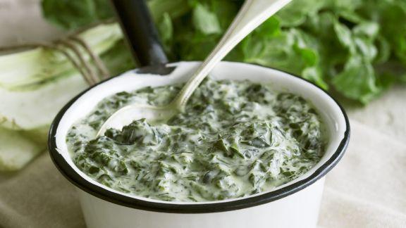 Rezept: Spinat mit Rahm