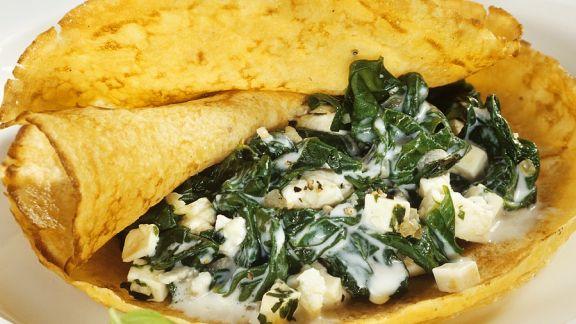 Rezept: Spinat-Pfannkuchen