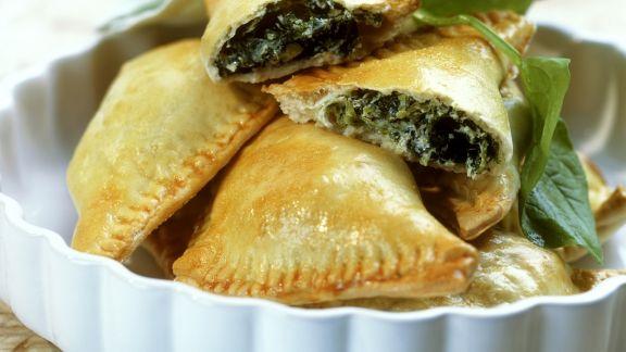 Rezept: Spinat-Ricotta-Teigtaschen