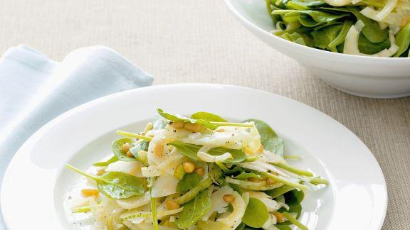 Rezept: Spinatsalat mit Fenchel