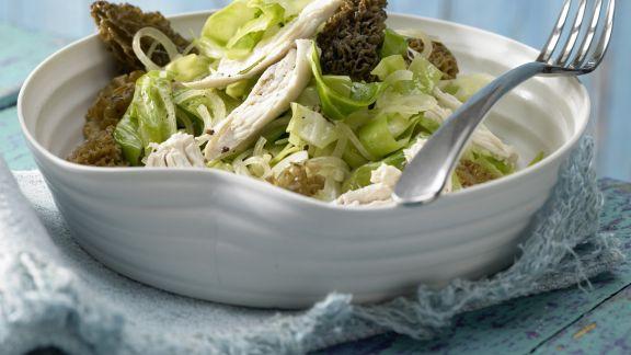 Rezept: Spitzkohl-Morchel-Gemüse