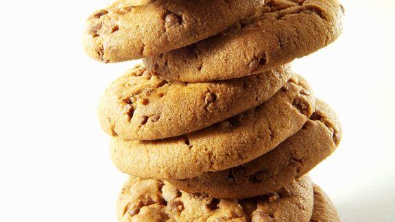 Rezept: Stapel aus Chocolate Chip Cookies