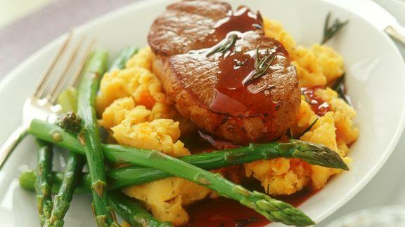 Rezept: Steak auf Kürbispüree