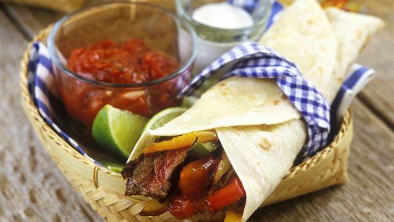 Rezept: Steak-Fajita mit Salsa