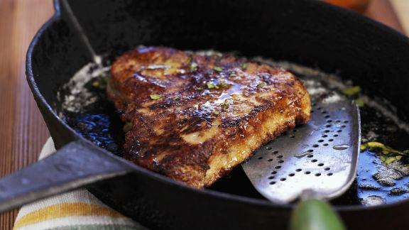Rezept: Steak vom Thunfisch mit Honig glasiert