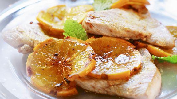 Rezept: Steaks vom Truthahn mit Orangen