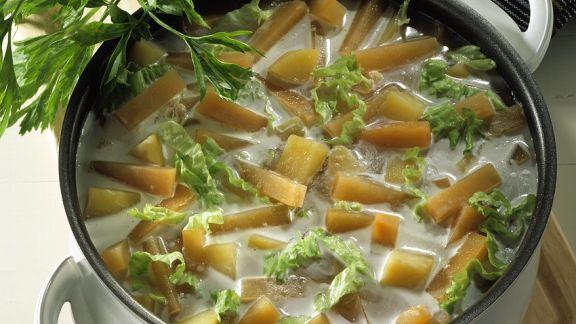 Rezept: Steckrübeneintopf mit Kartoffeln