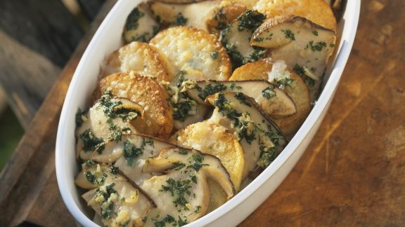 Rezept: Steinpilz-Kartoffel-Gratin