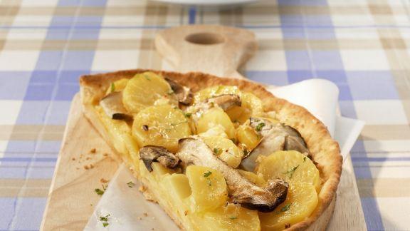 Rezept: Steinpilz-Kartoffel-Quiche