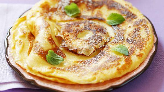 Rezept: Süße Apfelpfannkuchen