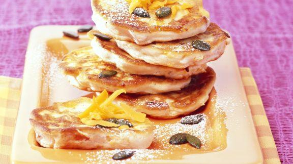 Rezept: Süße Kürbis-Pancakes
