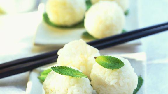 Rezept: Süße Reisbällchen