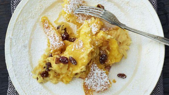 Rezept: Süßer Polentagratin mit Apfel und Rosine