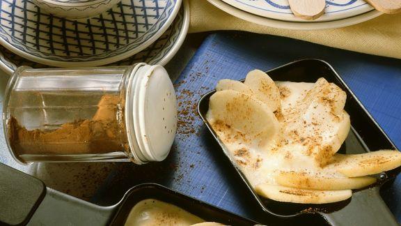 Rezept: Süßes Apfel-Raclette