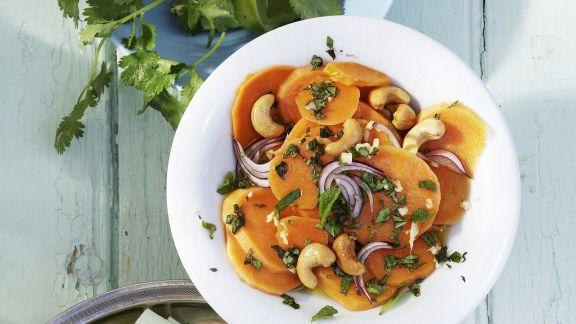 Rezept: Süßkartoffel-Cashew-Salat