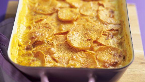 Rezept: Süßkartoffelauflauf