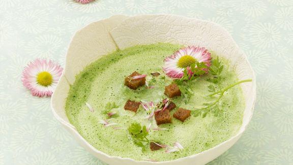Rezept: Suppe aus Frühlingskräutern